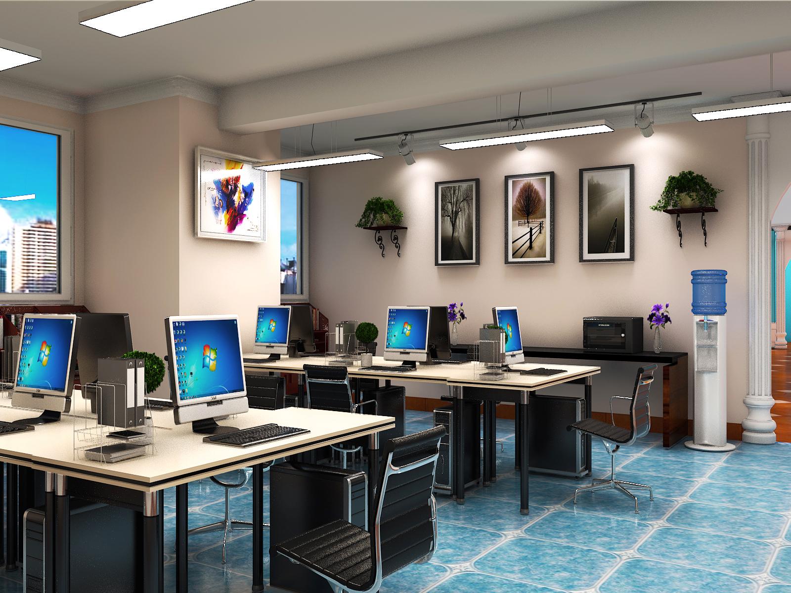 万达汉雅商贸现代风格办公室装修设计